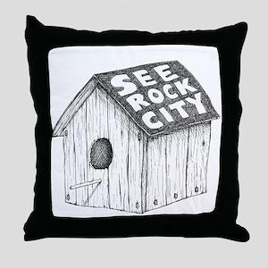 See Rock City Throw Pillow