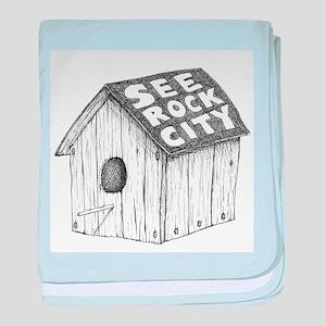 See Rock City baby blanket