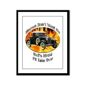 Ford Model A Framed Panel Print
