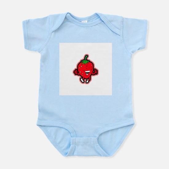 Dancing Strawberry Infant Creeper
