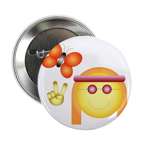 "Hippie Chick 2.25"" Button (100 pack)"
