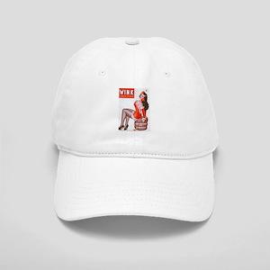 Wink Vintage Brunette Pin Up in Red Cap