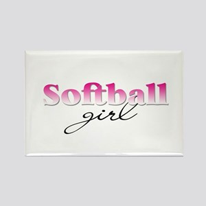 Softball girl Rectangle Magnet