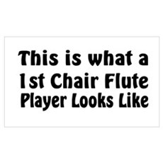 1st Chair Flute Poster