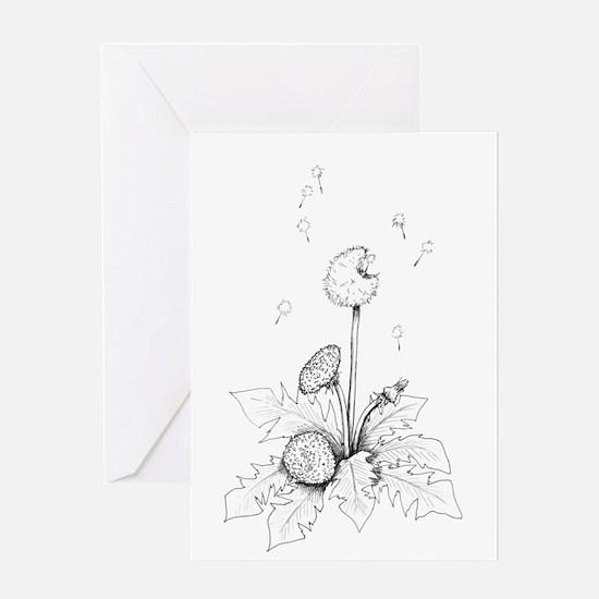 Dandelion drawing Greeting Card