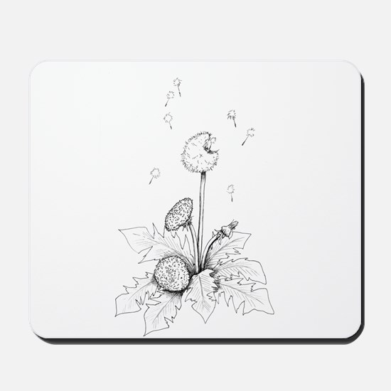 Dandelion drawing Mousepad