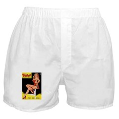 Titter Vintage Pin Up Girl Magazine Boxer Shorts