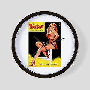 Titter Vintage Pin Up Girl Magazine Wall Clock