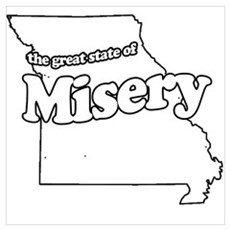 The Great State of Misery Framed Print