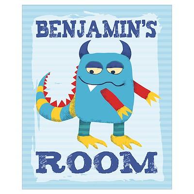 Benjamin's ROOM Mallow Monster 16x20 Poster