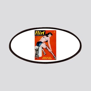 Flirt Pin Up Girl in Black Patches