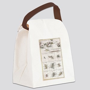 Vintage Islands of The Caribbean Canvas Lunch Bag