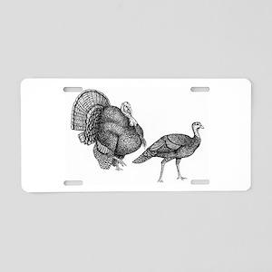 Turkey Drawing Aluminum License Plate