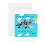 StoreTile FriendsKidLarge Greeting Cards