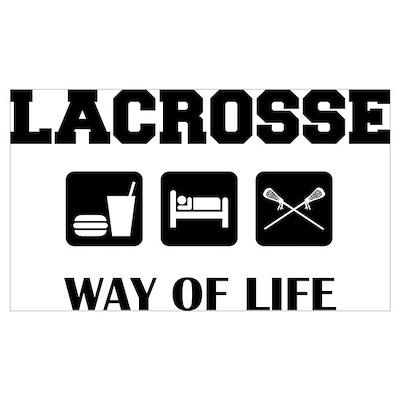 Eat Sleep Lacrosse Poster