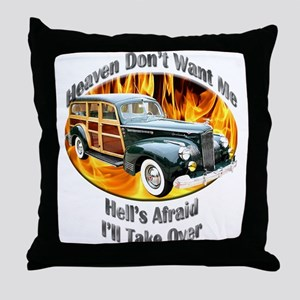 Packard Woodie Throw Pillow