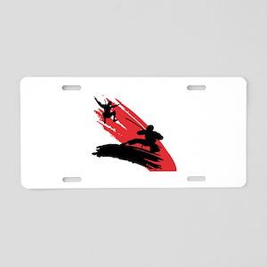 Fighting Ninja's Aluminum License Plate