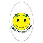 Carpe Dulcis Diem Sticker (Oval)