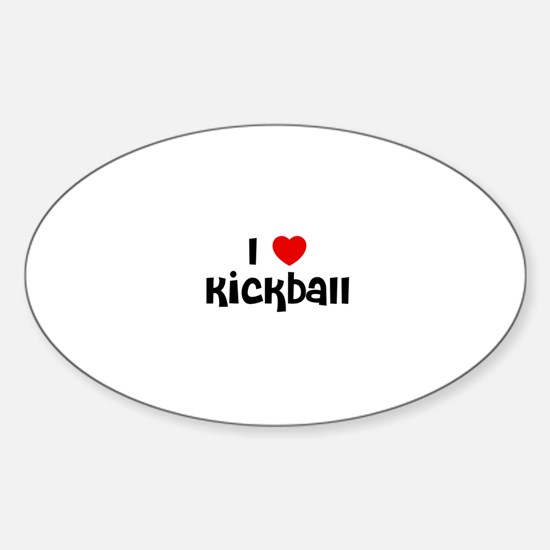 I * Kickball Oval Decal