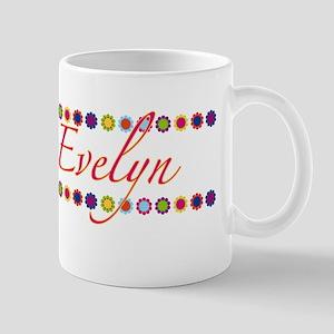 Evelyn with Flowers Mug