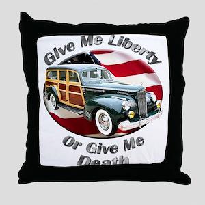 Packard Woodie Throw Pillow