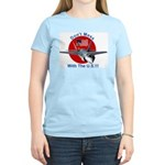 """""""Don't Mess with the U.S."""" Women's Pink T-Shirt"""