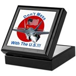 """Don't Mess with the U.S."" Keepsake Box"