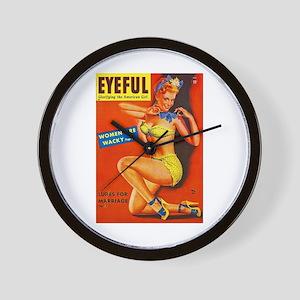Eyeful Magazine Pin Up Girl Wall Clock