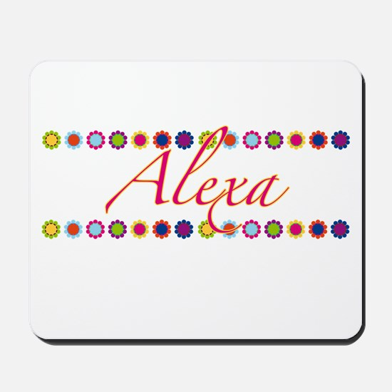Alexa with Flowers Mousepad