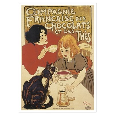 Chocolate and Cat Poster