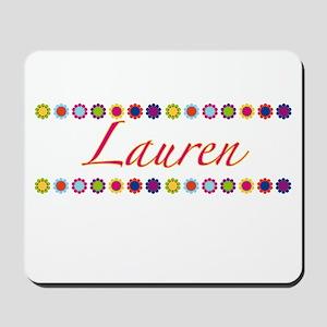 Lauren with Flowers Mousepad