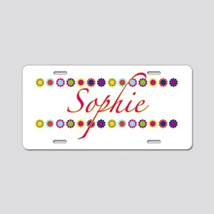 Sophie with Flowers Aluminum License Plate