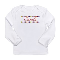 Camila with Flowers Long Sleeve Infant T-Shirt