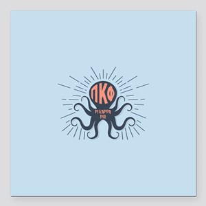 "Pi Kappa Phi Octopus Square Car Magnet 3"" x 3"""