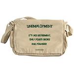 Unemployment Satire Messenger Bag