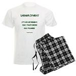 Unemployment Satire Men's Light Pajamas