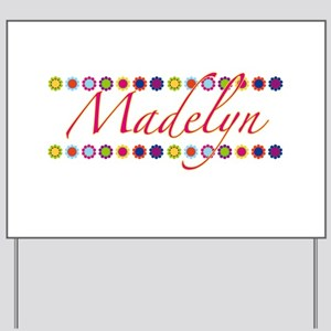 Madelyn with Flowers Yard Sign