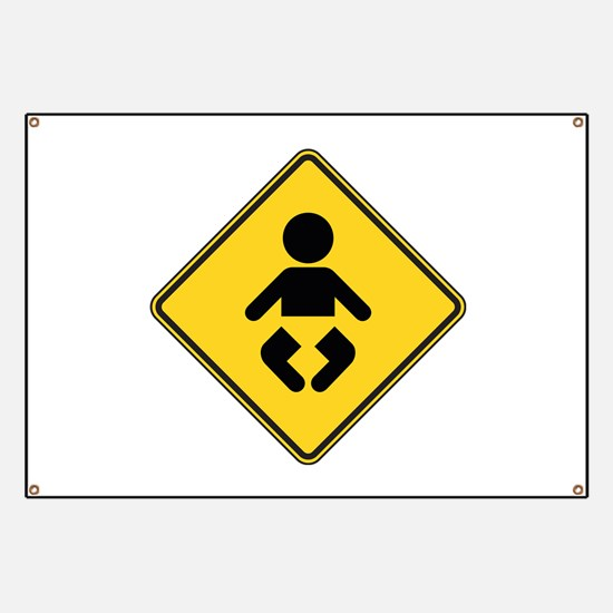Warning : Baby Banner