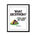 What Recession Framed Panel Print