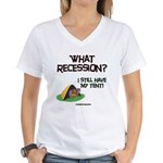 What Recession Women's V-Neck T-Shirt