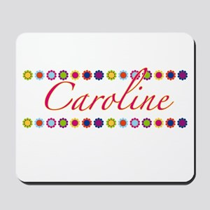 Caroline with Flowers Mousepad
