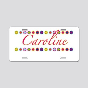 Caroline with Flowers Aluminum License Plate