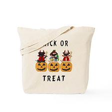Halloween Trick or Treat Pugs Tote Bag