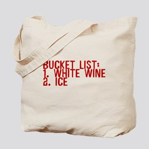 Bucket List White Wine Ice Tote Bag