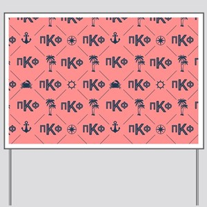 Pi Kappa Phi Coral Pattern Yard Sign