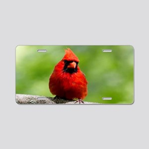 Red Cardinal Aluminum License Plate