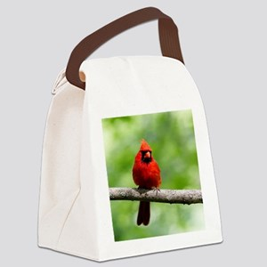 Red Cardinal Canvas Lunch Bag