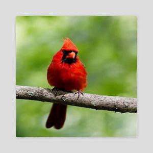 Red Cardinal Queen Duvet