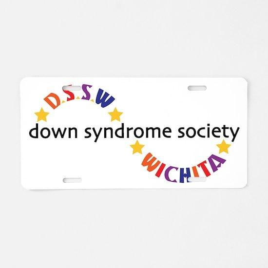 Unique Down syndrome Aluminum License Plate