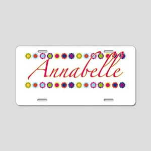 Annabelle with Flowers Aluminum License Plate